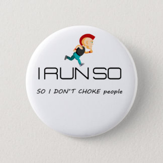 Ruining for health and fitness 6 cm round badge