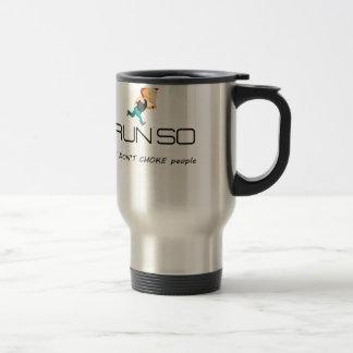 Ruining for health and fitness travel mug