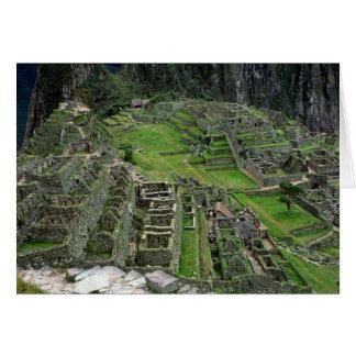 Ruins at Machu Picchu Card