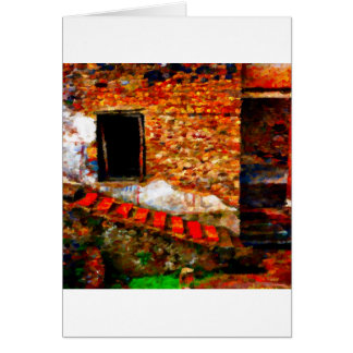 Ruins at Pompeii Italy Card