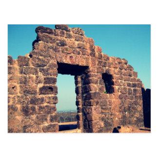 Ruins in Aguada Fort Goa India Postcard