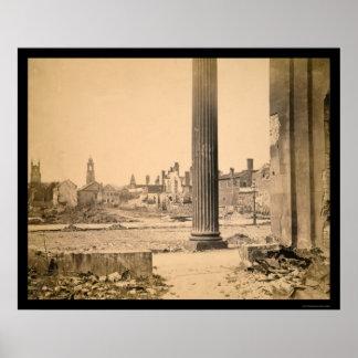Ruins in Charleston, South Carolina 1865 Poster