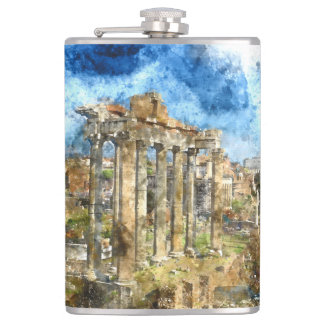Ruins in Rome Flask