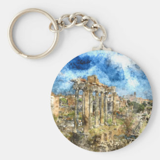 Ruins in Rome Key Ring