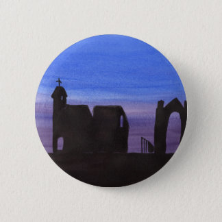 Ruins In the Gloaming 6 Cm Round Badge