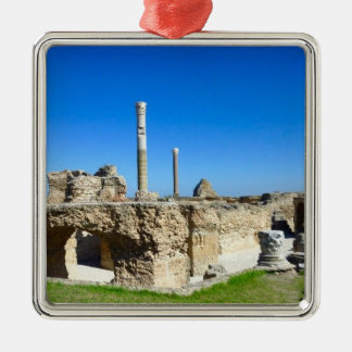 Ruins of Carthage Silver-Colored Square Decoration