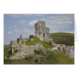 Ruins of Corfe Castle, near Wareham, Dorset, Card