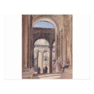 Ruins of Diocletian at Spalato by Rudolf von Alt Postcard