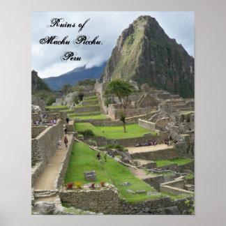 Ruins of Machu Picchu, Peru Poster