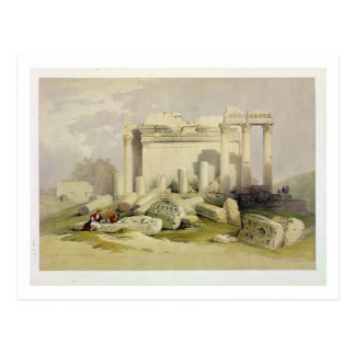 Ruins of the Eastern Portico of the Temple of Baal Postcard