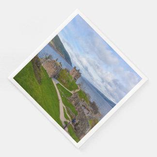 Ruins of Urquhart Castle along Loch Ness, Scotland Disposable Napkin
