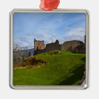 Ruins of Urquhart Castle along Loch Ness, Scotland Metal Ornament