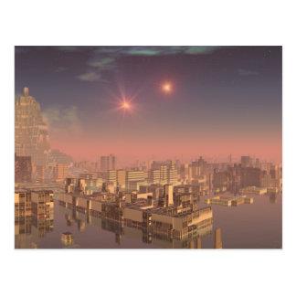 Rujjipet Alien City with Binary Suns Postcard