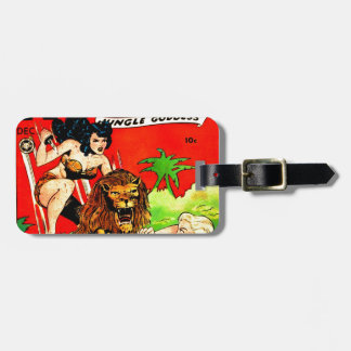 Rulah and a Big Scary Lion Luggage Tag