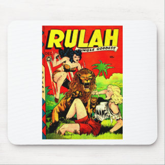 Rulah and a Big Scary Lion Mouse Pad