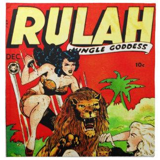 Rulah and a Big Scary Lion Napkin