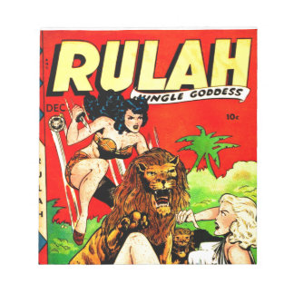 Rulah and a Big Scary Lion Notepad