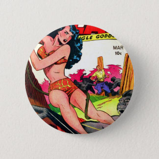 Rulah and the Big Ape 6 Cm Round Badge