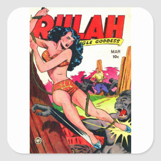 Rulah and the Big Ape Square Sticker