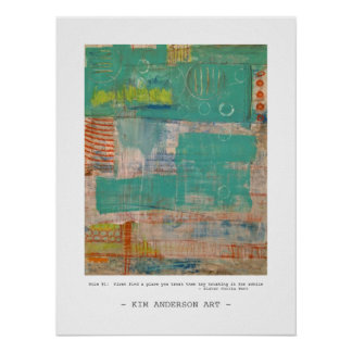 Rule # 1  abstract art poster