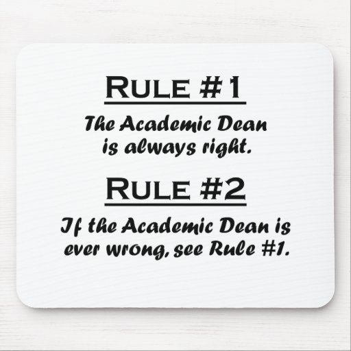 Rule Academic Dean Mouse Pads