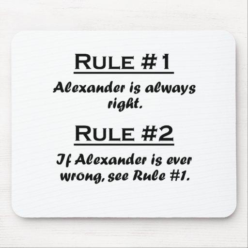 Rule Alexander Mousepad