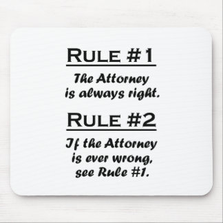 Rule Attorney Mouse Pad