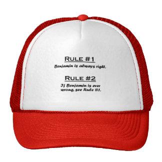 Rule Benjamin Cap
