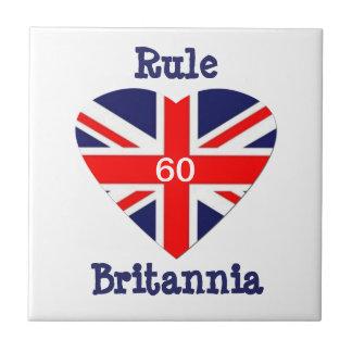 Rule Britannia! 60-Union Jack Heart Tile