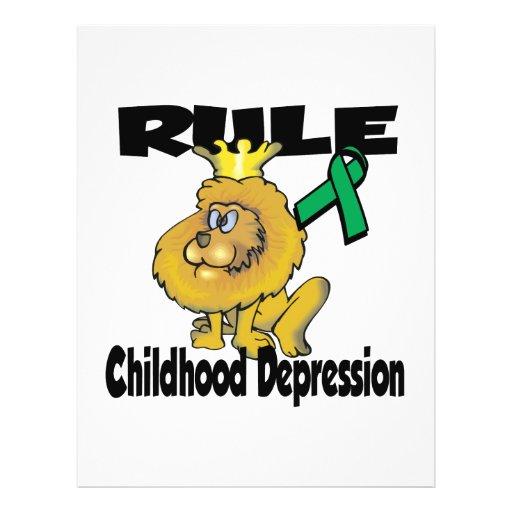 Rule Childhood Depression Custom Flyer