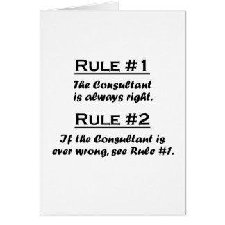 Rule Consultant Note Card