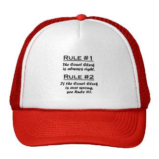 Rule Court Clerk Trucker Hat