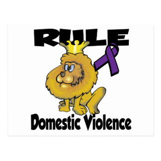 Rule Domestic Violence Postcard
