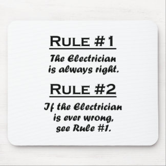 Rule Electrician Mouse Pad