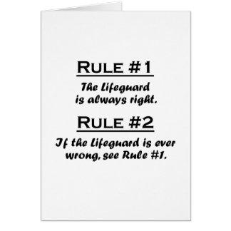 Rule Lifeguard Card