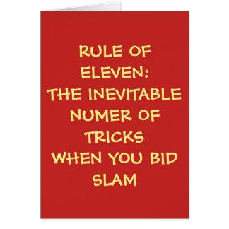 RULE OF ELEVEN - BLANK CARD