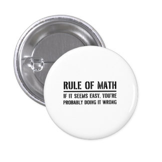 Rule of Math 3 Cm Round Badge