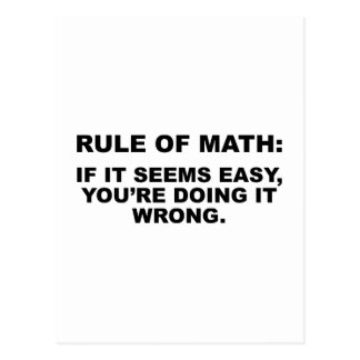 Rule Of Math Postcard