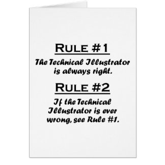 Rule Technical Illustrator Note Card