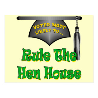 Rule The Hen House Postcard