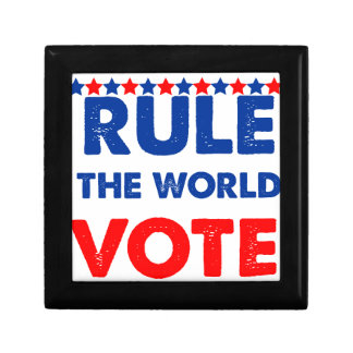Rule the world vote small square gift box