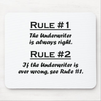 Rule Underwriter Mouse Pad