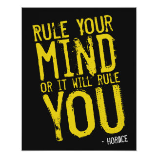 Rule Your Mind - self-discipline poster