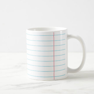 RULED LINED PAPER MUG