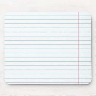 RULED PAPER MOUSEPAD