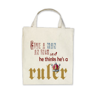 Ruler - Organic Grocery Tote Canvas Bags