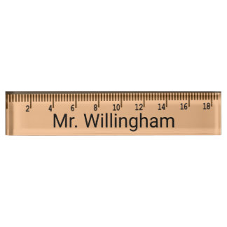 Ruler Teacher's Custom Desk Nameplate