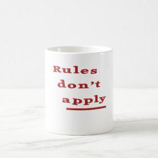 rules dont apply coffee mug