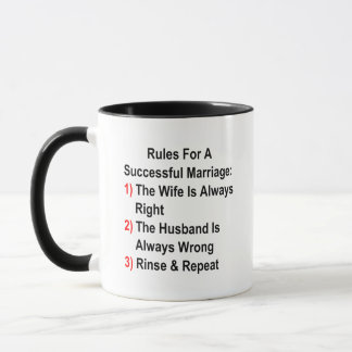 Rules For A Successful Marriage Mug