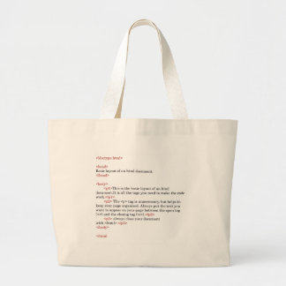rules of html large tote bag